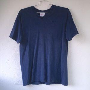 Vintage Nike V Neck T-Shirt Heavy Cotton 90s 1990s